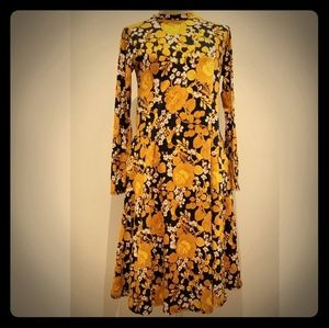 Orange Creek Long Sleeve Midi Floral Dress